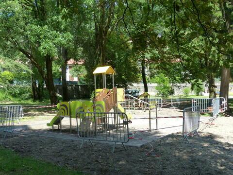 Le CMEJ est à l'initiative des jeux installés dans le parc Lefrançois